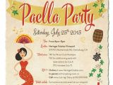 Paella Party Invitations Paella Party Invitation