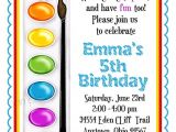 Paint Party Invitation Ideas Art Invitations Painting Party Birthday Party Paint Box