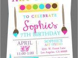 Paint Party Invitation Ideas Party Invitation Templates Paint Party Invitations