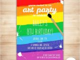 Paint Party Invitation Template Free Art Party Invitation Template Paint Party Printable