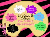 Paint Party Invitation Template Free Paint Party Invitations