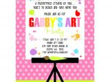 Paint Party Invitation Template Painting Art Party Printable Invitation Dimple Prints Shop