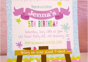 Painting Party Invitation Ideas Art Birthday Party Ideas for Kids Moms Munchkins