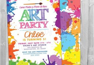 Painting Party Invitation Ideas Art Paint Party Invitations Printable Birthday Invitation