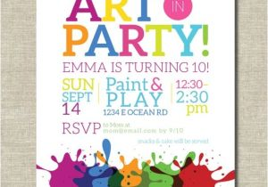 Painting Party Invitation Ideas Art Party Invitation Painting Party Art Birthday Party