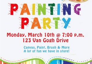 Painting Party Invitation Ideas Birthday Invites Awesome 10 Art Painting Party
