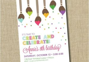 Painting Party Invitation Ideas Paint Party Invitation Art Birthday Party by