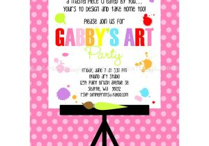 Painting Party Invitation Ideas Painting Art Party Printable Invitation Dimple Prints Shop
