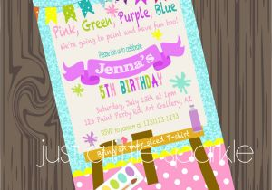 Painting Party Invitation Ideas Party Invitations Best Paint Party Invitations Art
