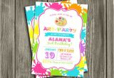 Painting Party Invitation Ideas Printable Modern Art Party Birthday Invitation Paint