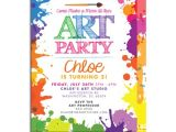 Painting Party Invitations Free Printable 7 Best Images Of Art Party Invitations Printable Paint