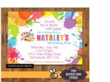 Painting Party Invitations Free Printable Art Birthday Party Invitations for Your Kids Bagvania