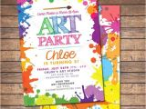 Painting Party Invitations Free Printable Art Paint Party Invitations Printable Birthday Invitation