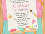Painting Party Invitations Free Printable Art Painting Birthday Party Invitation for Kids Printable