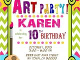 Painting Party Invitations Free Printable Art Party Invitation Art Birthday Paint Mis2manos