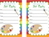 Painting Party Invitations Free Printable Art Party Invitations Birthday Party for Kids Pbs