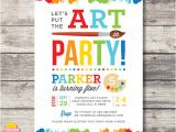 Painting Party Invitations Free Printable Art Party Invitations Template Best Template Collection