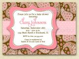 Paisley Baby Shower Invitations Pink Chocolate Paisley Baby Shower Invitation by Mommiesink
