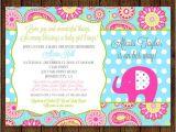 Paisley Print Baby Shower Invitations Elephant Baby Shower Paisley Baby Shower Invitation Elephant