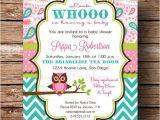Paisley Print Baby Shower Invitations Owl Baby Shower Invitation Baby Girl Pink Aqua Teal