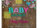 Paisley Print Baby Shower Invitations Paisley Baby Shower Invitation Baby Shower Invitation