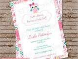 Paisley Print Baby Shower Invitations Paisley Owl Baby Shower Invitation