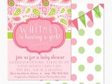Paisley Print Baby Shower Invitations Pink and Green Paisley Baby Shower or Birthday Party