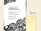 Paisley Wedding Invitation Template Paisley Border Wedding Invitation Wedding Invitation