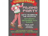 Pajama Party Invitation Wording for Adults Chalkboard Christmas Pajama Party Invitations Zazzle