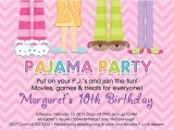 Pajama Party Invitations for Adults Pajama Party Sleepover Birthday Party Invitation In Pink
