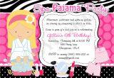 Pajama Party Invitations for Adults Spa Pajama Party Invitation Invite Spa Party Sleepover Spa Day