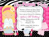 Pajama Party Invitations for Adults Spa Pajama Party Invitation Invite Spa Party Sleepover Spa Day