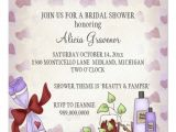 Pamper Baby Shower Invitations Bridal Shower Invitations Beauty & Pamper theme