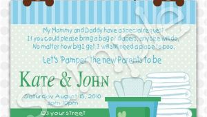 Pamper Baby Shower Invitations Items Similar to Pamper and Wipes Baby Shower Invitation