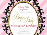 Pamper Party Invite Template Birthday Digital Printable Invitation Template Pamper