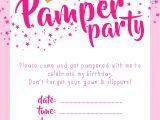 Pamper Party Invite Template Invitation Templates