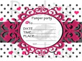 Pamper Party Invite Template Items Similar to Pamper Party Invitation Instant