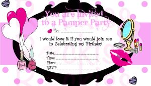Pamper Party Invite Template Pamper Party Invitation Make Up Party Ready by