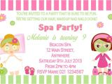 Pamper Party Invite Template Pamper Party Invitations