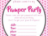 Pamper Party Invite Template Pamper Party Invitations Pamper Party Invitations In