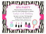 Pamper Party Invite Template Personalized Pamper Party Invitations