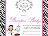 Pamper Party Invite Template Sparkle Pamper Parties Invitation Templates