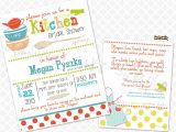 Pampered Chef Bridal Shower Invitations Pampered Chef Kitchen Recipe Bridal Shower Invitation by