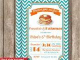 Pancake and Pajama Birthday Party Invitations Pajamas and Pancakes Party Invitations Printed or by