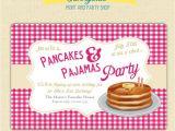 Pancake and Pajama Birthday Party Invitations Pancake and Pajama Birthday Party Invitations Home Party
