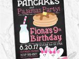 Pancake and Pajama Birthday Party Invitations Pancakes and Pajamas Birthday Party Invitations Brunch