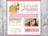 Pancake and Pajama Birthday Party Invitations Pancakes and Pajamas Party Invitation Photo Card Printable