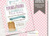 Pancake and Pajama Birthday Party Invitations Pancakes and Pajamas Party Invitation Pj Slumber Party
