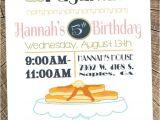 Pancake and Pajama Birthday Party Invitations Pancakes Pajamas Party Invitation Birthday Girl 39 S
