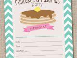 Pancake and Pajama Birthday Party Invitations Pancakes Pajamas Party Invitations by Inkobsessiondesigns